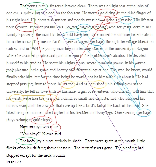 close reading circling connections